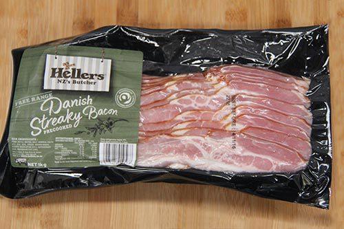 Hellers - Danish Streaky Bacon - Free Range - 1kg