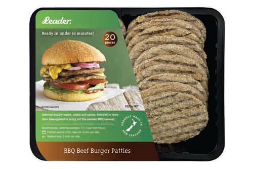 Leader - BBQ Beef Burger Patties - 20 pack