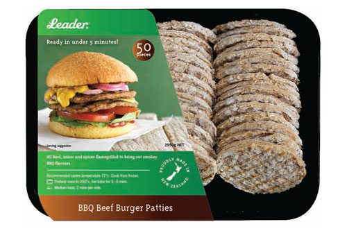 Leader - BBQ Beef Burger Patties - 50 pack
