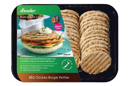 Leader - BBQ Chicken Burger Patties